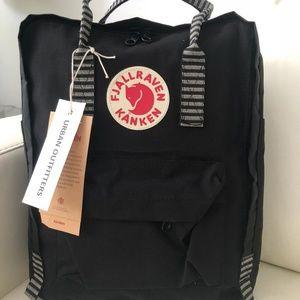 Fjallraven kanken backpack 16L black white